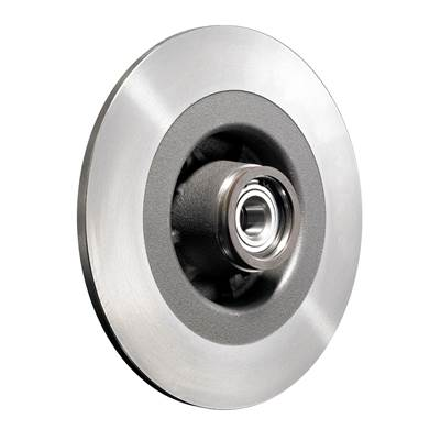 Brake discs with integrated wheel bearings